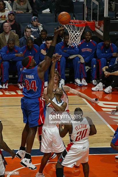 Jan 24 2007 Charlotte NC USA Detroit Pistons CHRIS WEBBER against Charlotte Bobcats DEREK ANDERSON on Jan 24 at the Charlotte Bobcats Arena in...