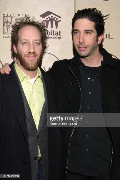 "Jan 25, 2007 David Schwimmerand Joey Slotnick at the ""R.S.V.P. TO HELP"" benefit, a fundraiser for Habitat for Humanity, HELP USA and the Philadelphia..."