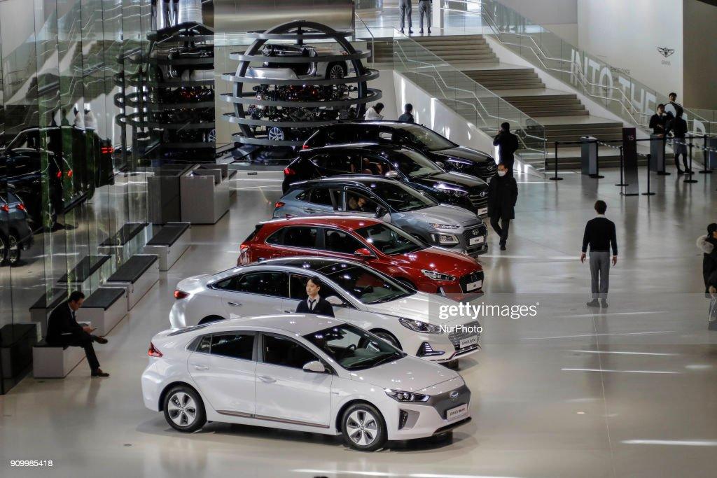 Jan 25 2018 Goyang South Korea Hyundai Motor Company Vehicles