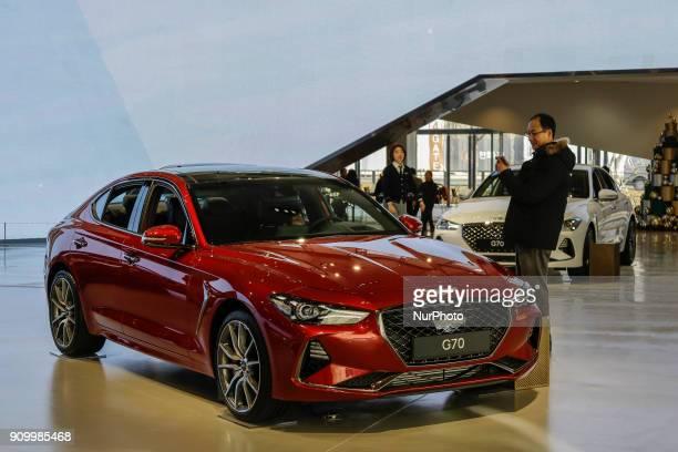 Jan 25 2018Goyang South KoreaHyundai Motor Company vehicles displayed at Hyundai Motor Studio in Goyang South Korea Hyundai Motor says its...
