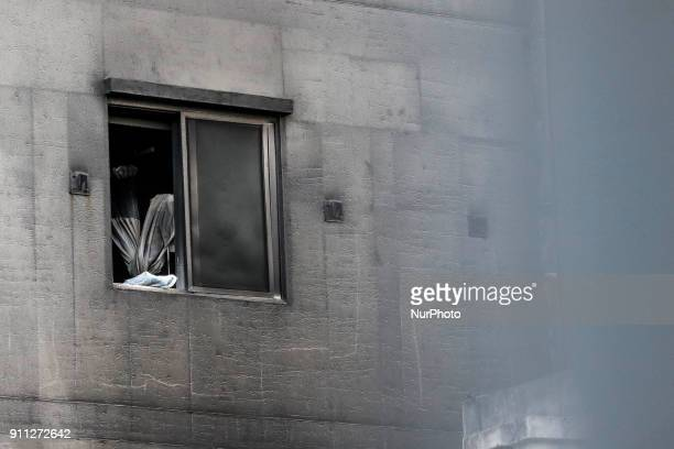Jan 26 2018Miryang South KoreaA General view of Sejong Hospital A fire gutted the ground floor of a hospital in southeastern South Korea and sent...