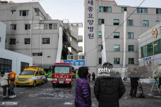 Jan 26 2018Miryang South KoreaUnKnown victim's family visit fired hospital in Miryang South KoreaA fire gutted the ground floor of a hospital in...