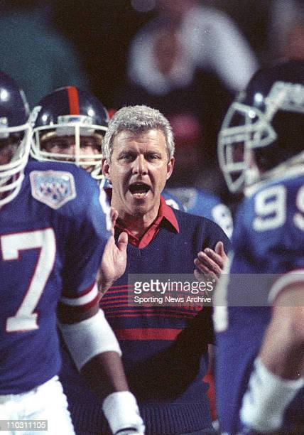 Jan 27 1991 Tampa Florida USA New York Giants head coach BILL PARCELLS against Buffalo Bills in Super Bowl 25 at Tampa Stadium