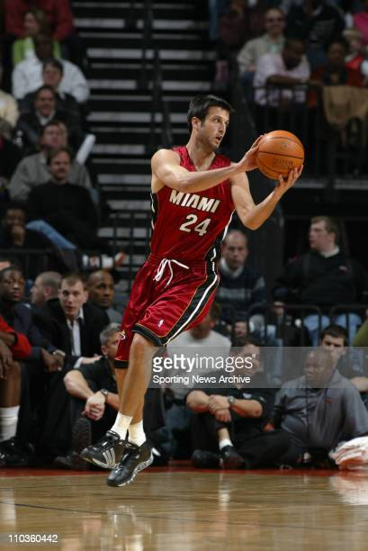 Jan 27 2006 Charlotte NC USA NBA BASKETBALL Miami Heat Jason Kapono against Charlotte Bobcats on Jan 27 at the Charlotte Bobcats Arena in Charlotte...