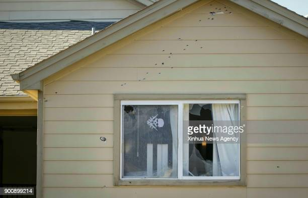 DENVER Jan 3 2018 Photo taken on Jan 2 2018 shows the outside of a suburban Denver apartment building where the shooting of several sheriff's...