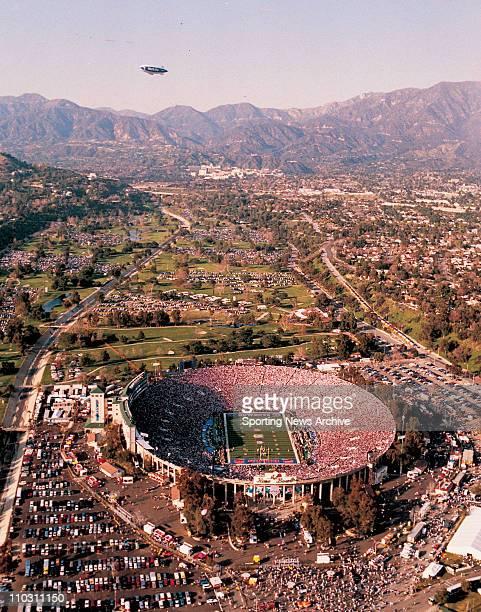 Jan 31 1993 Pasadena CA USA An aerial shot of the Dallas Cowboys against the Buffalo Bills on Jan 31 1993 in Super Bowl 27 at the Rose Bowl in...