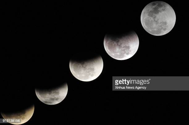 Jan 31 2018 Combo photo taken on Jan 31 2018 shows different shapes of the moon during a lunar eclipse in southwest Pakistan's Gwadar