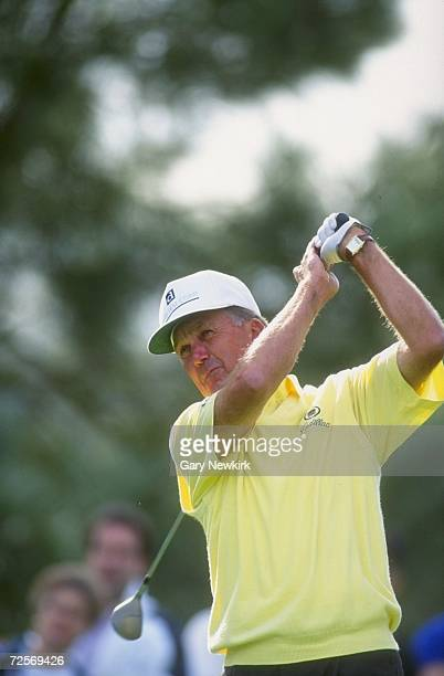 Al Geiberger watches the ball after his swing during the Mercedes Championship at La Costa Spa and Resort in Carlsbad California Mandatory Credit...