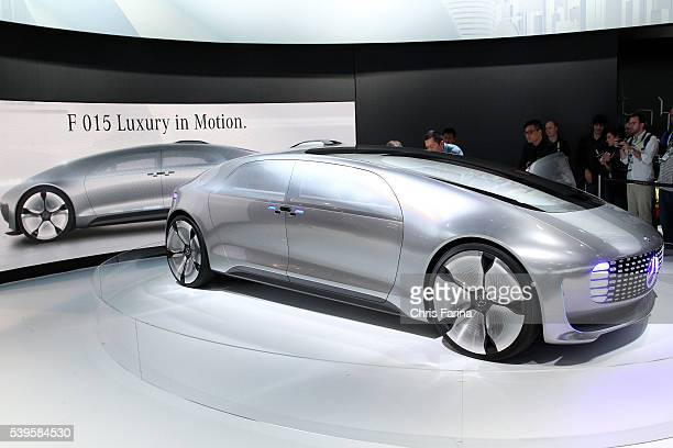Jan 6 Las Vegas Nevada The MercedesBenz F015 Luxury in Motion concept car a selfdriving hydrogenelectric plugin hybrid makes its debut at the 2015...
