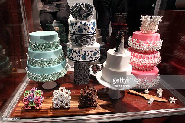Jan 8 Las Vegas Nevada 3D printed cakes made by 3DSystems during the 2015 International Consumer Electronics Show Chris Farina