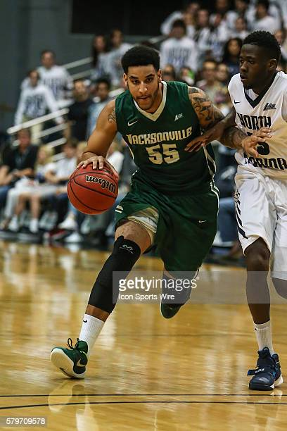 Jacksonville University guard Kori Babineaux during the NCAA men's basketball game between the Jacksonville University Dolphins and the North Florida...