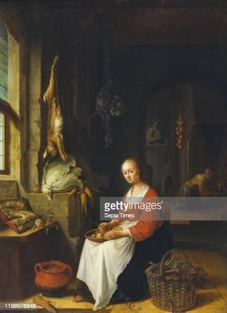 Jan Adriaensz van Staveren Kitchen Scene Kitchen scene painting Height 53 cm Width 39 cm Signed J STAVEREN