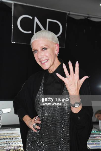 Jan Arnold, Co-founder of CND poses backstage at Marco Marco Debuts Collection Seven with Style Fashion Week at Hammerstein Ballroom on September 8,...