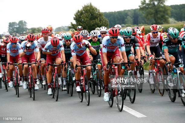 Jan Bakelants of Belgium and Team Sunweb / Vyacheslav Kuznetsov of Rusia and Team Katusha-Alpecin / Harry Tanfield of United Kingdom and Team...