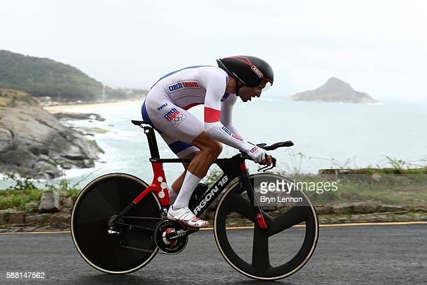 Jan Barta of the Czech Republic competes in the Cycling Road Men's Individual Time Trial on Day 5 of the Rio 2016 Olympic Games at Pontal on August...