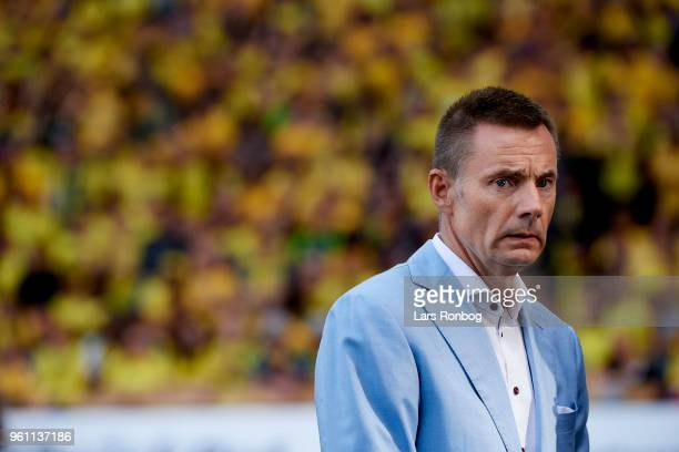 Jan Bech Andersen owner of Brondby IF prior to the Danish Alka Superliga match between Brondby IF and AaB Aalborg at Brondby Stadion on May 21 2018...