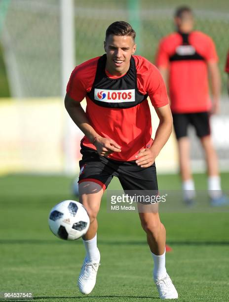 Jan Bednarek during a training session of the Polish national team at Arlamow Hotel during the second phase of preparation for the 2018 FIFA World...