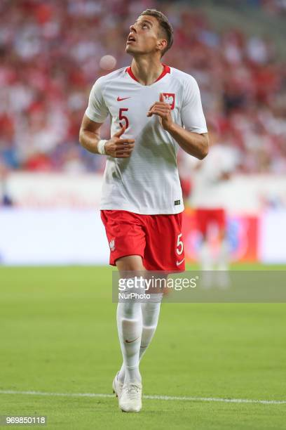 Jan Bednarek of Poland during International Friendly match between Poland and Chile on June 8 2018 in Poznan Poland