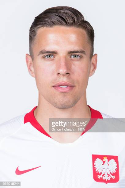 Jan Bednarek of Poland poses during the official FIFA World Cup 2018 portrait session at Hyatt Regency Hotel on June 14 2018 in Sochi Russia