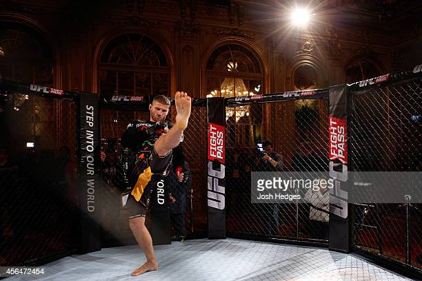 Jan Blachowicz of Poland holds an open training session for media and fans at the Grand Hotel on October 1 2014 in Stockholm Sweden
