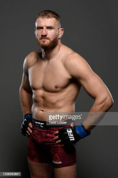 Jan Blachowicz of Poland poses for a portrait backstage during the UFC Fight Night event at Santa Ana Star Center on February 15, 2020 in Rio Rancho,...