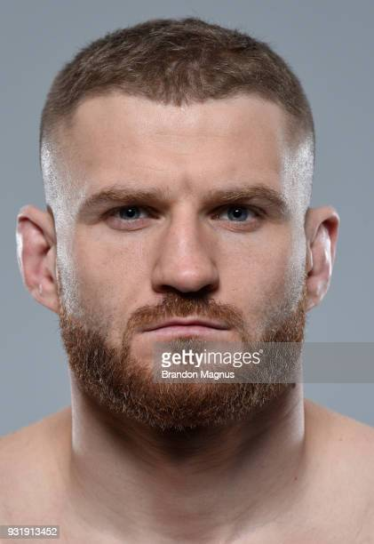 Jan Blachowicz of Poland poses for a portrait during a UFC photo session on March 14 2018 in London England