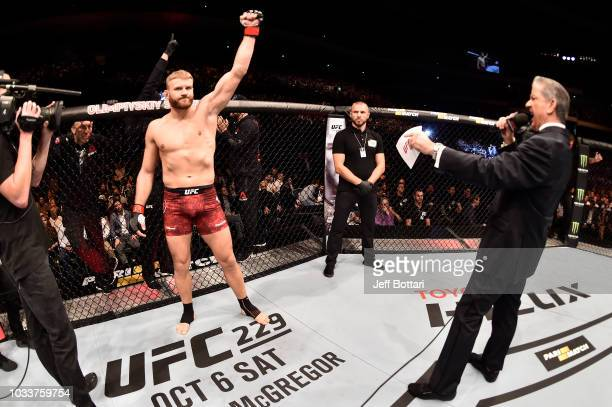 Jan Blachowicz of Poland stands in his corner prior to his light heavyweight bout against Nikita Krylov of Ukraine during the UFC Fight Night event...