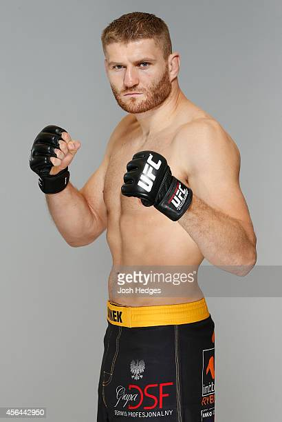 Jan Blachowicz poses for a portrait during a UFC photo session at the Clarion Hotel on October 1 2014 in Stockholm Sweden