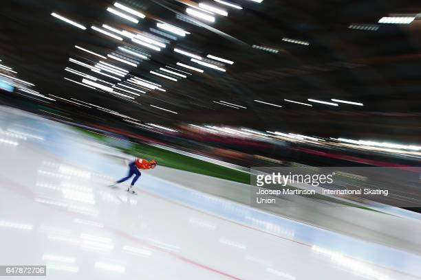 Jan Blokhuijsen of Netherlands competes in the Men's 5000m during day one of the World Allround Speed Skating Championships at Viking Skipet Hamar...