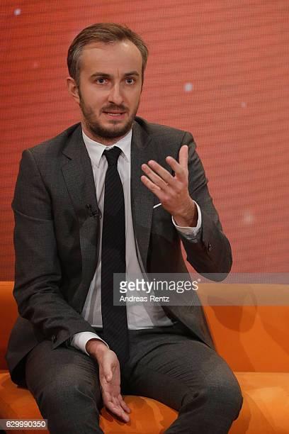 Jan Boehmermann gestures during 'Menschen 2016' - ZDF Jahresrueckblick on December 15, 2016 in Hamburg, Germany.