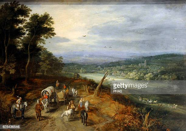 Jan Brueghel the Elder 15681625 Flemish Painter Country Road Oil on panel Barroque The State Hermitage Museum Saint Petersburg Russia