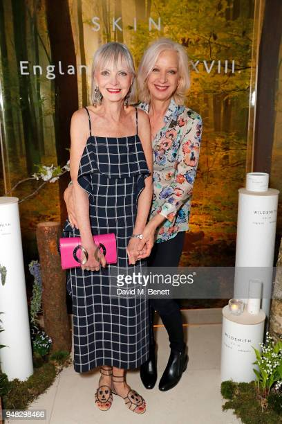 Jan De Villeneuve and Mary Greenwell attend the Wildsmith Skin launch dinner cohosted by Skye Gyngell Kathleen BairdMurray at Spring at Somerset...