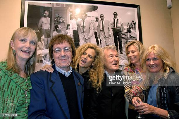 Jan de Villeneuve Bill and Suzanne Wyman Terry O'Neill Lorraine Ashton Philip Kingsley and Debbie Moore attend the private view of Terry O'Neill's...