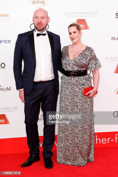 Jan Decker and his sister Anika Decker during the 46th German Film Ball at Hotel Bayerischer Hof on January 26 2019 in Munich Germany