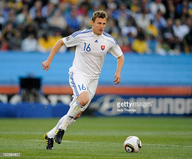 Jan Durica of Slovakia during the 2010 FIFA World Cup South Africa Group F match between Slovakia and Italy at Ellis Park Stadium on June 24 2010 in...