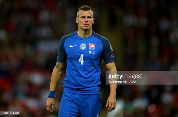 Jan Durica of Slovakia during the FIFA 2018 World Cup Qualifier between England and Slovakia at Wembley Stadium on September 4 2017 in London England...