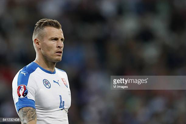 Jan Durica of Slovakia during the UEFA EURO 2016 Group B group stage match between Russia and Slovakia at the Stade Pierremauroy on june 15 2016 in...