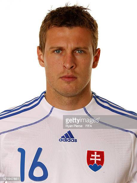 Jan Durica of Slovakia poses during the official FIFA World Cup 2010 portrait session on June 10 2010 in Pretoria South Africa