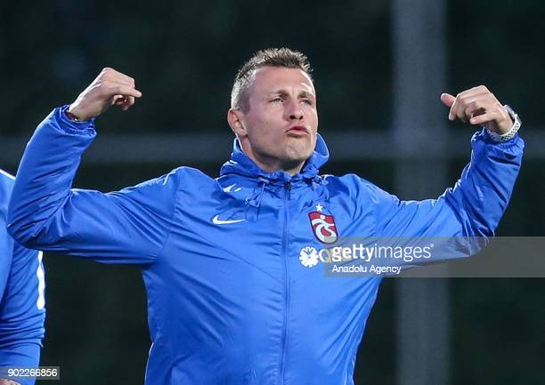 Jan Durica of Trabzonspor attends the training session within the team's midseason training camp in Antalya Turkey on January 7 2018