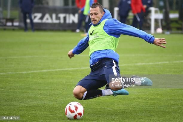Jan Durica of Trabzonspor attends the training session within the team's midseason training camp in Antalya Turkey on January 12 2018