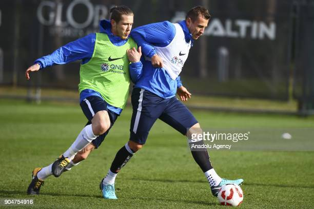 Jan Durica of Trabzonspor attends the training session within the team's midseason training camp in Antalya Turkey on January 14 2018