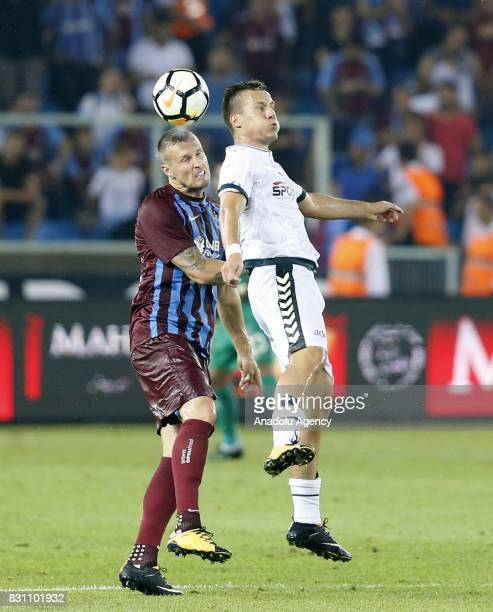 Jan Durica of Trabzonspor in action during a Turkish Spor Toto Super Lig soccer match between Trabzonspor and Atiker Konyaspor at Medical Park...