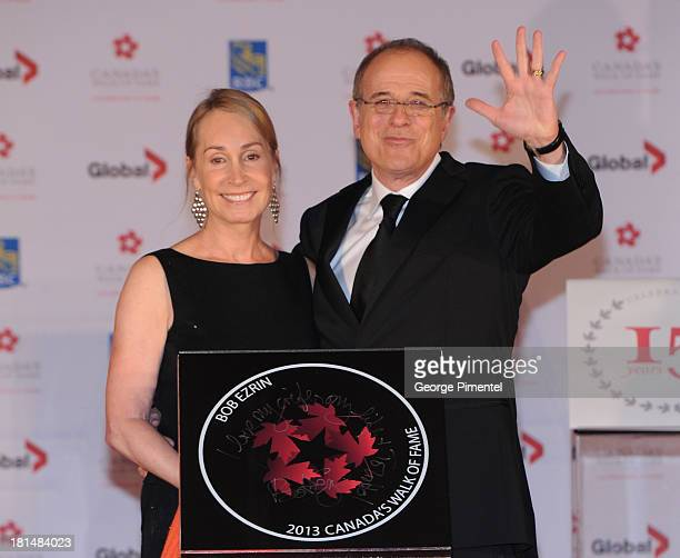 Jan Ezrin and Bob Ezrin attend Canada's Walk Of Fame Ceremony at The Elgin on September 21 2013 in Toronto Canada