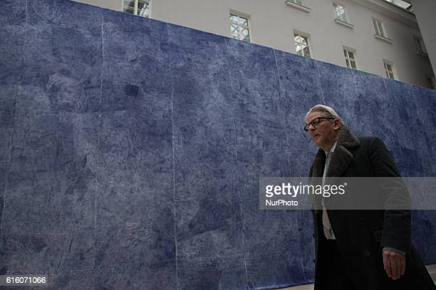 Jan Fabr goes in front of the art installation quotThe road from the earth to the stars is not pavedquot at the opening of his exhibition quotJan...