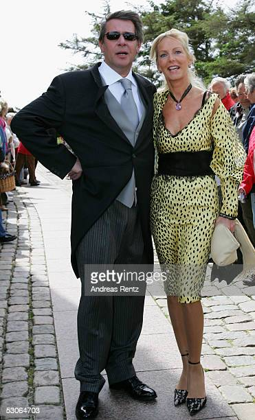 Jan Fedder actor and his wife Marion pose for a photograph at the Sankt Severin church on June 11 2005 at Sylt in Germany Michael Stich and Alexandra...