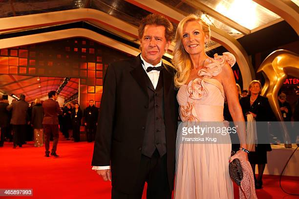Jan Fedder and Marion Fedder attend the Bambi Awards 2013 at Stage Theater on November 14 2013 in Berlin Germany
