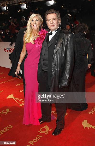 Jan Fedder and wife Marion attend the 47th Golden Camera Awards at the Axel Springer Haus on February 4 2012 in Berlin Germany