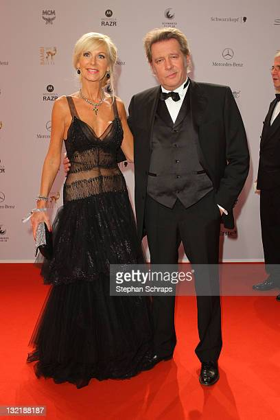 Jan Fedder and wife Marion attend the Red Carpet for the Bambi Award 2011 ceremony at the RheinMainHallen on November 10 2011 in Wiesbaden Germany