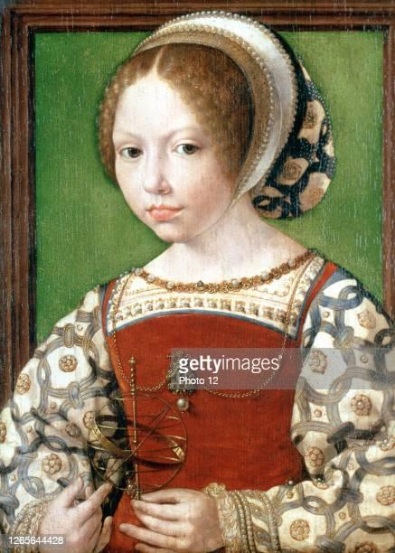 Jan Gossaert, Dutch school. A Young Princess . About 1530-1532. Oil on oak . London, National Gallery.