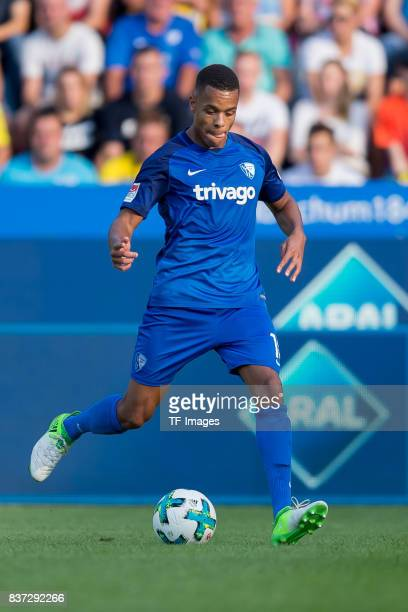 Jan Gyamerah of Bochum controls the ball during the preseason friendly match between VfL Bochum and Borussia Dortmund at Vonovia Ruhrstadion on July...